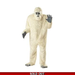 Abominable Snowman Adult Mascot Costume