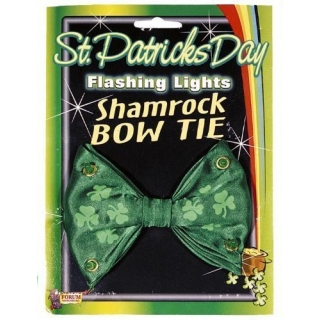 Flashing Lights Shanrock Bow Tie