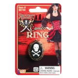 Skull & Cross Bone Cameo Ring