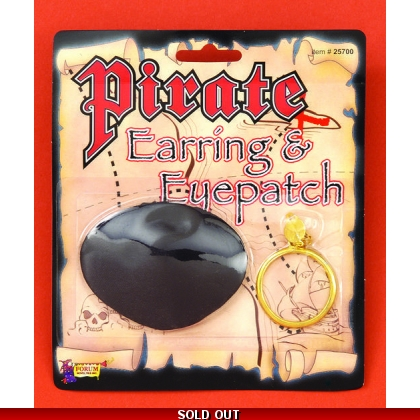 Eye Patch and Earring