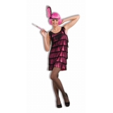 20's Flapper Pink Wig