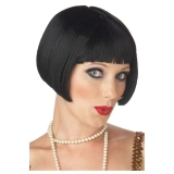 Flirty Flapper Black Wig