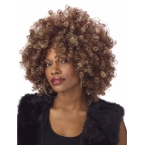 Fine Foxy Fro Brown Wig