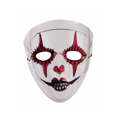 Transparent Evil Harlequin Mask