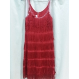 Adult Red Flapper Dress Small Costume