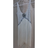 Adult Chicago Style White Flapper Dres..