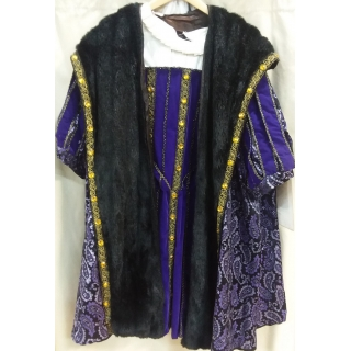 Adult Medieval Purple King Henry XL Co..