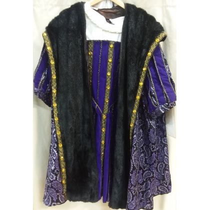 Adult Medieval Purple King Henry XL Costume