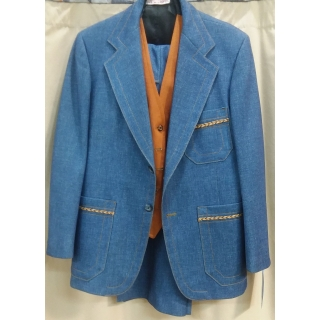 Adult 1970's Denim Suit Medium Costume
