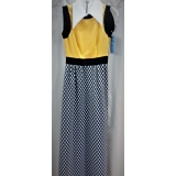 Adult 1970's Yellow & Checkered Dress ..