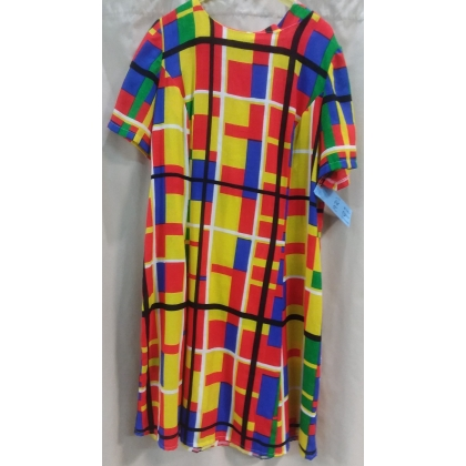 Adult 1970's Patterned Dress Large Costume