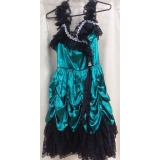 Adult Green Showgirl Dress Small Costume