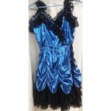 Adult Blue Showgirl Dress Small Costume