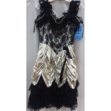 Adult Gold Dance Hall Dress Small Cost..