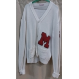 Adult White Letter Sweater XL Costume