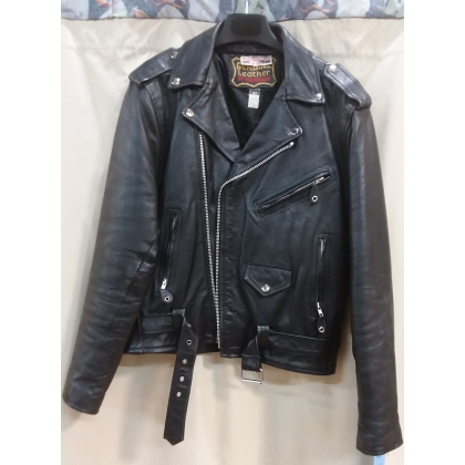 Adult 1950's Leather Greaser Jacket Large Costume