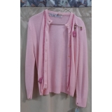 Adult Fifties Pink Sweater Small Costume