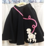 Adult 1950's Black Poodle Skirt Small/..