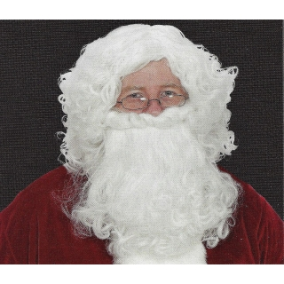 Economy White Santa Wig & Beard Set