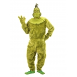 Deluxe Grinch Jumpsuit Adult Small cos..