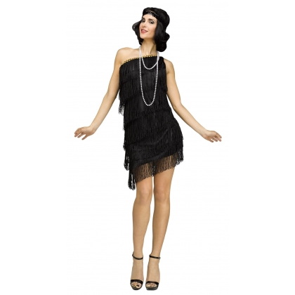 Adult 1920's Shimmery Flapper Small/Medium Costume