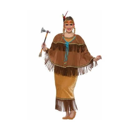 Princess Tomahawk - Adult Plus Size Female Indian Costume