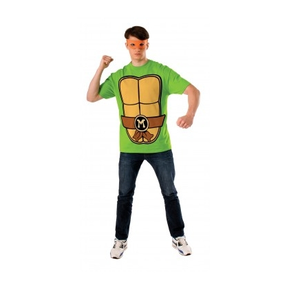 Ninja Turtles - Michelangelo Shirt & Eyemask