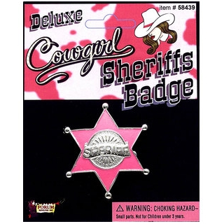 Cowgirl Sheriff's Badge