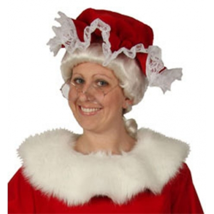 Regal Red Mrs. Claus Mop Hat