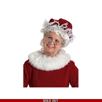 Red Mrs. Claus Mop Hat