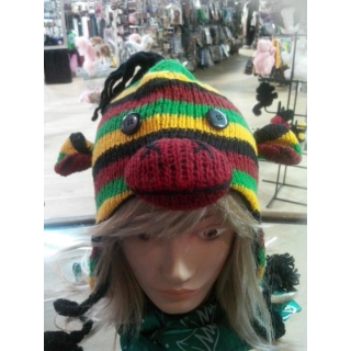 Rasta Monkey Knit Cap