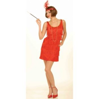 Adult 1920's Red Flapper Medium/Large ..