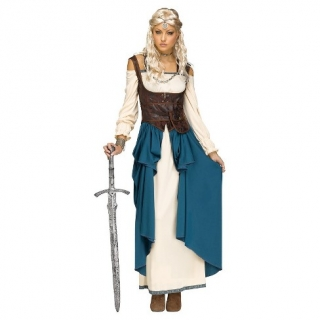 Adult Viking Queen Small/Medium Costume