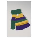 Mardi-Gras Knit Gloves