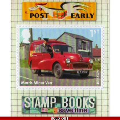 3530 Morris Minor postvan Europa self-adhesive from retail booklet