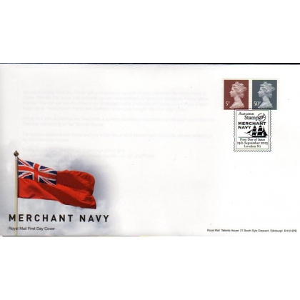 20130919 5p & 50p MPIL M13L Enschede Machins FDC from Merchant Navy PSB