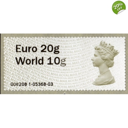 FS01.3-97 Euro20/World10 Machin MA13 Wincor Faststamp