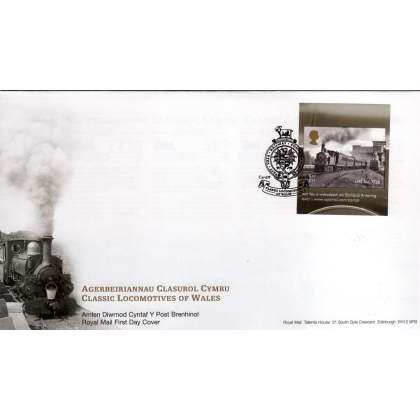 3634 Locomotives of Wales booklet stamp first day cover 2014