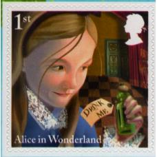 Alice in Wonderland booklet stamp.