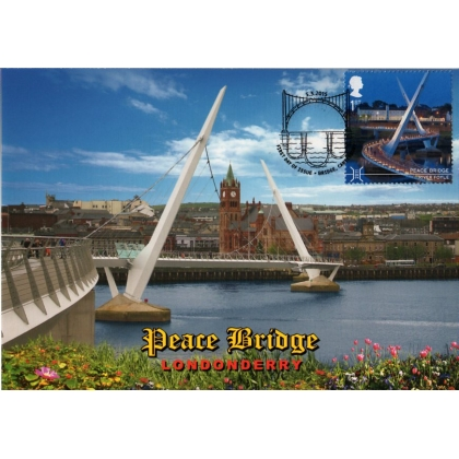 3696mxd Peace Bridge Londonderry Maximum Card