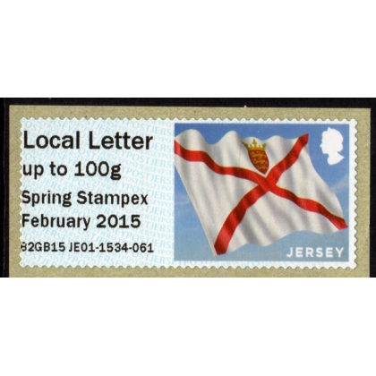 FZJ08 Jersey Flag Spring Stampex Local Letter Faststamp