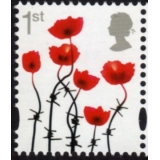 3717-a Lest We Forget Poppy - gummed f..
