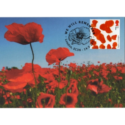 3711mx1 Poppy maximum card.