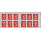 MF 8 - Booklet 12x 1st red Machins M15..
