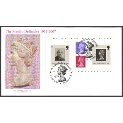 2743a Machin Anniversary MS Norvic First Day Cover