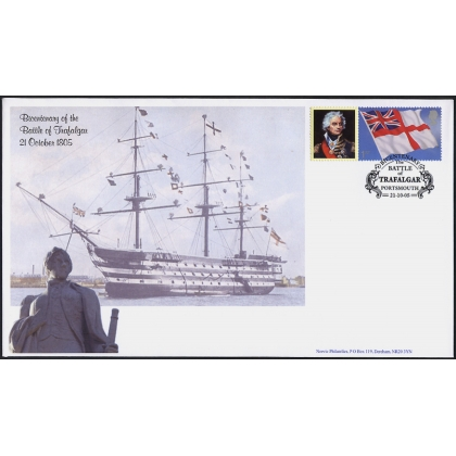 2581s Nelson Battle of Trafalgar Smiler stamp on Norvic FDC