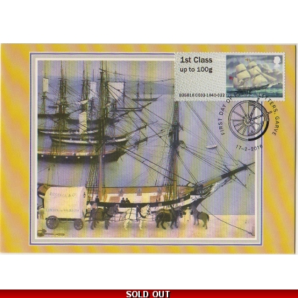 FS23c Postal Heritage Falmouth Packet Ship Maximum Card