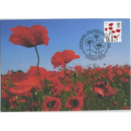 3717-a Lest We Forget Poppy 2016 Maximum Card