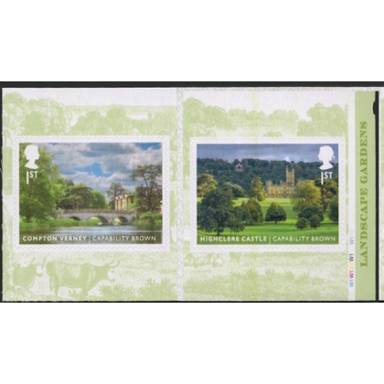 3877-8 Landscape Gardens pair of self-adhesive stamps from booklet