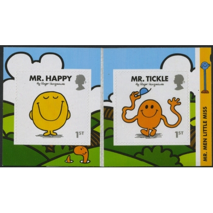 3901-2 Mr Men pair of self-adhesive stamps from retail booklet